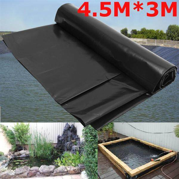 4.5X3M Fish Pond Liner Gardens Pools HDPE Membrane Reinforced Guaranty Landscaping Black