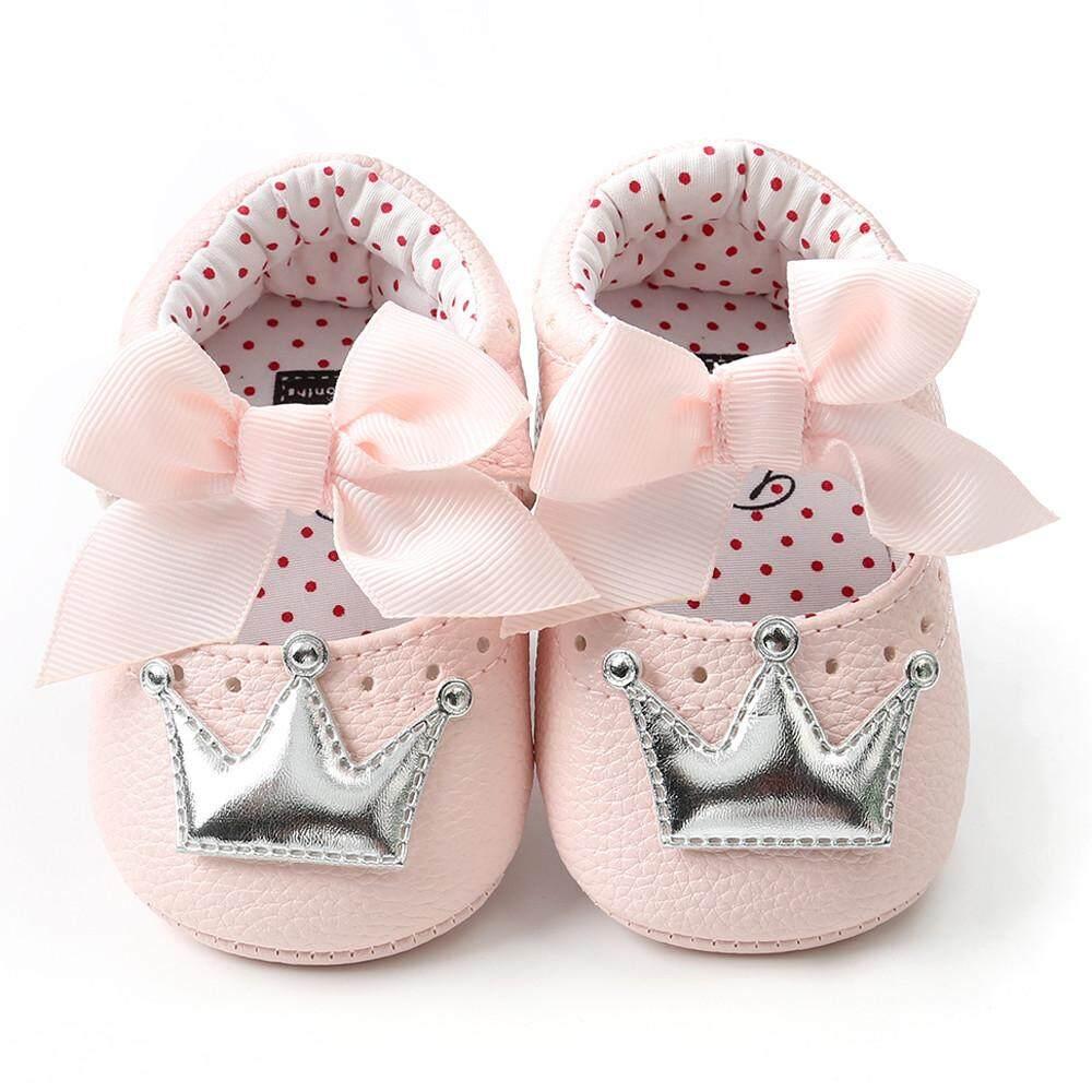 Cocol Max Bayi Bayi Baru Lahir Setelan Mahkota Perempuan Sepatu Putri Sol Lembut Anti-Slip Sneakers By Cocolmax.