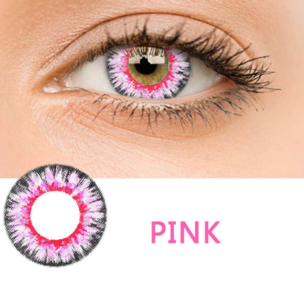Cyber Top Sales New Women High Quality Materials Multicolor Cute Charm and Attractive Contact Lenses 1 Pair - intl Philippines