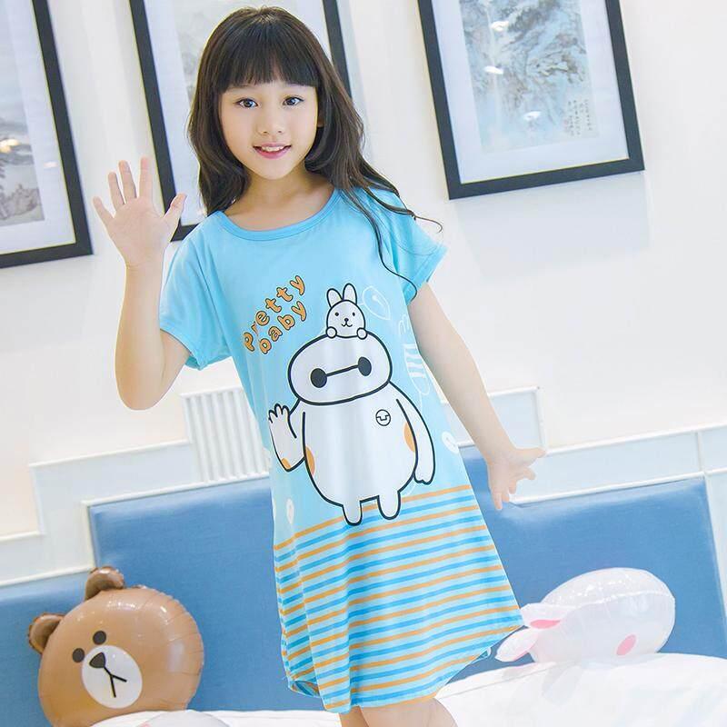 Zaiwan Merek Sifon Anak-anak Perempuan Anak Kecil Baju Tidur Piyama Baju Tidur Pakaian Rumah