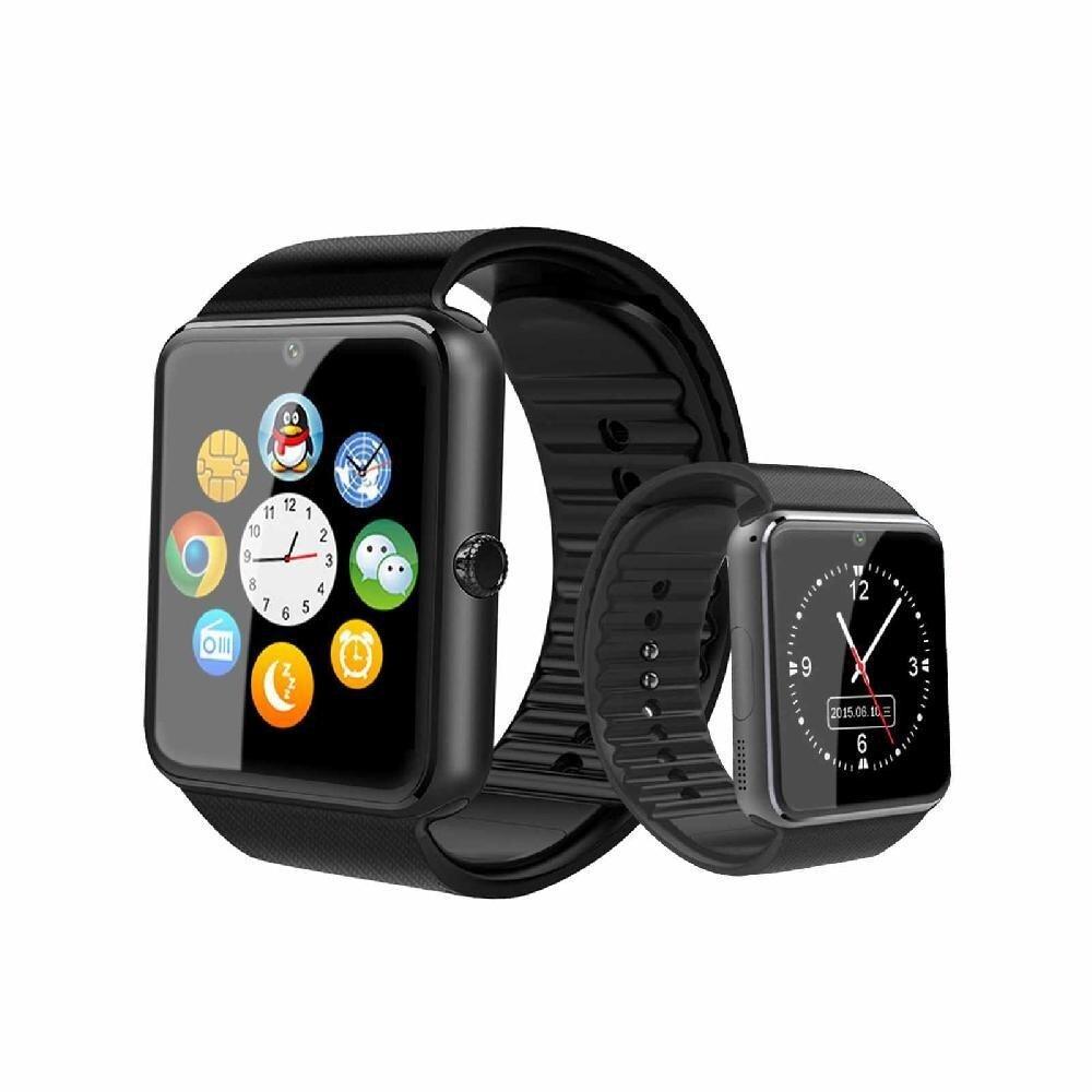 Ytri GT08 Bluetooth Pintar Dibangun Di Slot Kartu SIM Pergelangan Tangan Jam Tangan GSM Ponsel untuk Android Samsung Apple Ios iPhone- internasional