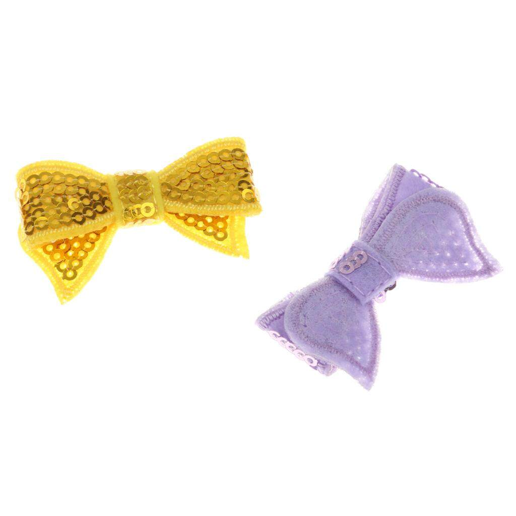 Bolehdeals 10pcs Sequin Bow Tie Bling Baby Kid Cloth Hair Wedding Party Diy Craft By Bolehdeals