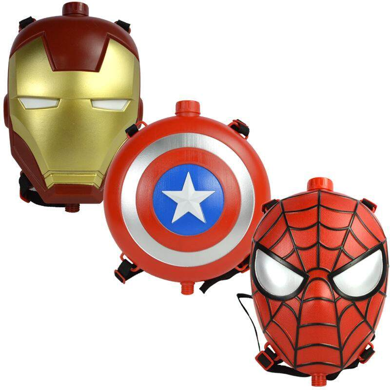 Avenger Boy Iron Spiderman Backpack Water Gun Outdoor Combat Water Gun Combination Launches Water Gun Toy By Peas In Pod.