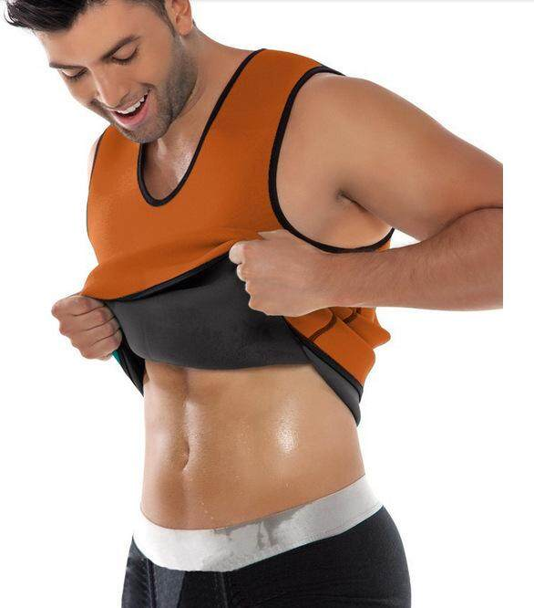 Men Shapewear Neoprene Ultra Sweat Sauna Vest Slimming Belt Belly Thermo Body Shaper Control Top Muscle Shirt By La Chilly.