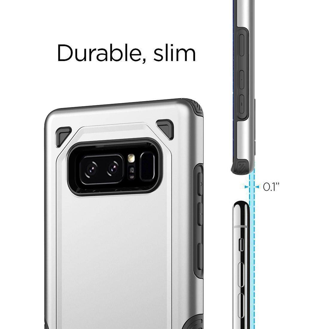 For Samsung Galaxy Note 8 Shockproof Rugged Armor Protective Case (Army Green .