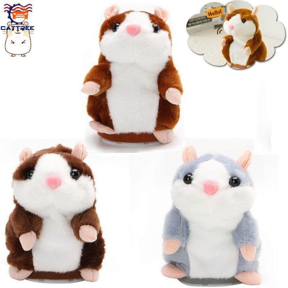 Catree Pet Mouse Toy Lovely 14.5*7*8cm Gray Plush Speak Kids Gift