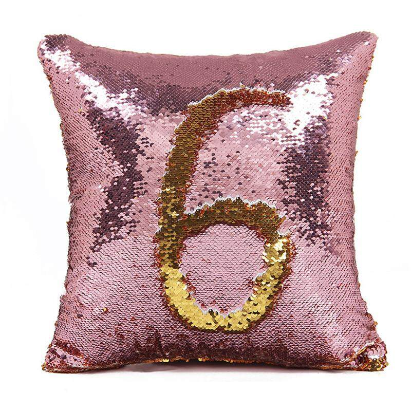 Reversible Sequin Throw Pillow Mermaid Sequin Pillow Case Magical Color Changing Home Decor Sofa Cushions Cover 40x40cm By Moonbeam.