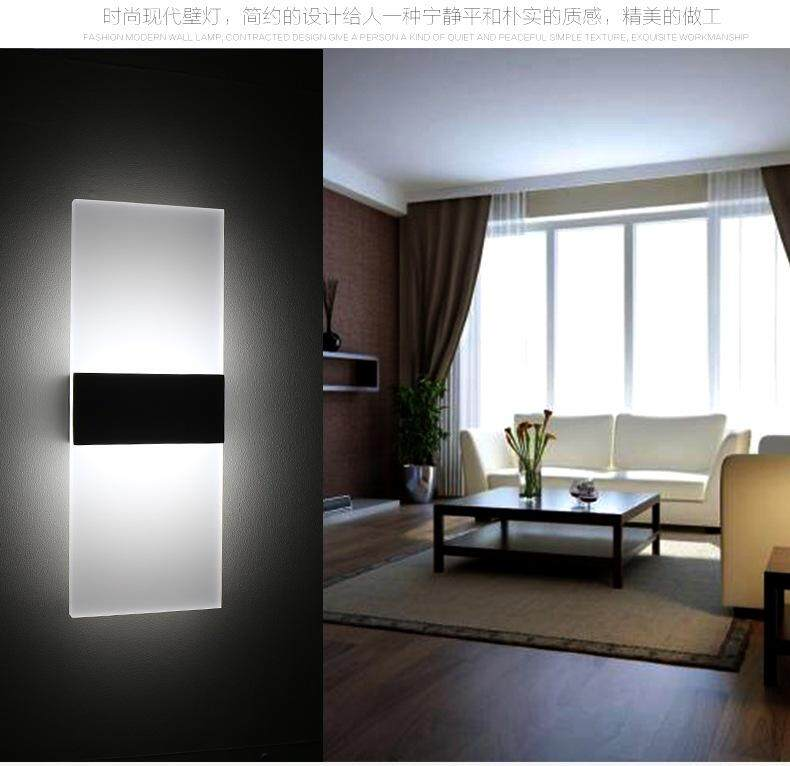 Modern 29*11CM 6W Modern Acrylic Bathroom Make-up Mirror Front Lights corridor aisle lighting staircase bed entrance door LED wall lamp decorative lamp sconces Singapore