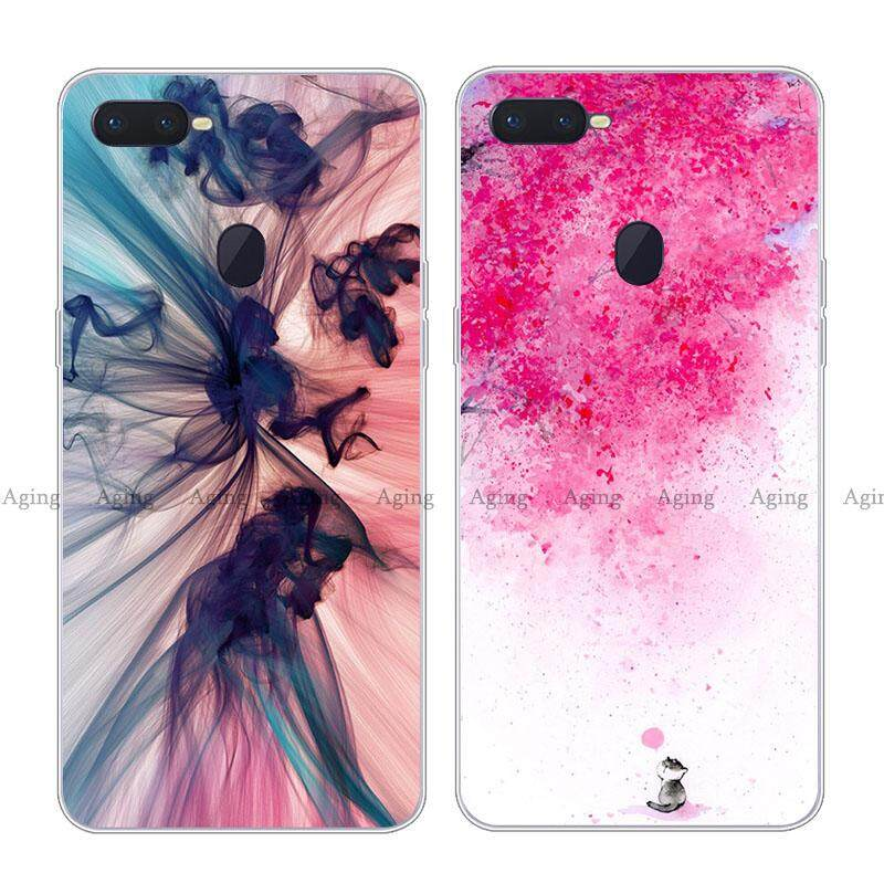 For Oppo F9 Case Cover Beatuiful Flower Girl Lady Gift Pattern Back Soft Casing