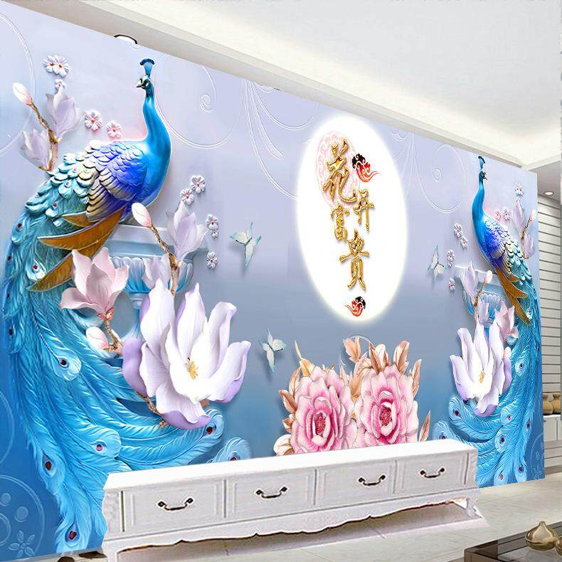 Baru Lukisan Berlian Mekar Penuh Kaya Merak Berlian Bor Jahitan Menyilang Bordir Peony Kupu-kupu