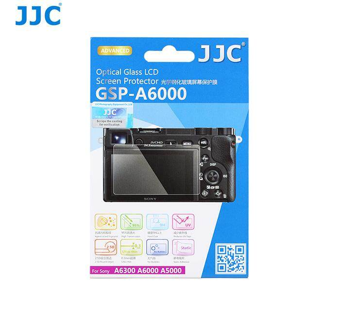 JJC GSP-A6000 Tempered Toughened Optical Glass Screen Protector 9H Hardness for Sony A6000 A5000