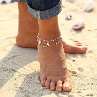 17f620db33e Discount Women Crystal Sequins Anklet Set Beach Foot Jewelry Vintage  Statement Elephant Moon Chain Charm Anklets Bracelet Boho Retro Style Party  Summer ...