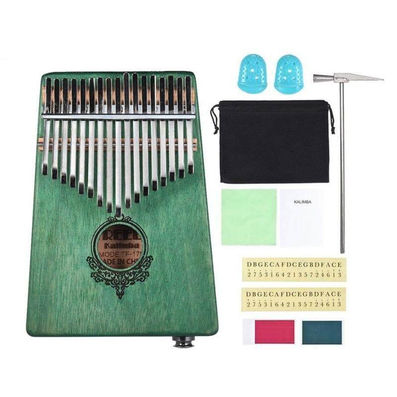 OSMAN 17 Key Kalimba African solid Mahogany Thumb Finger Piano with Electric Box