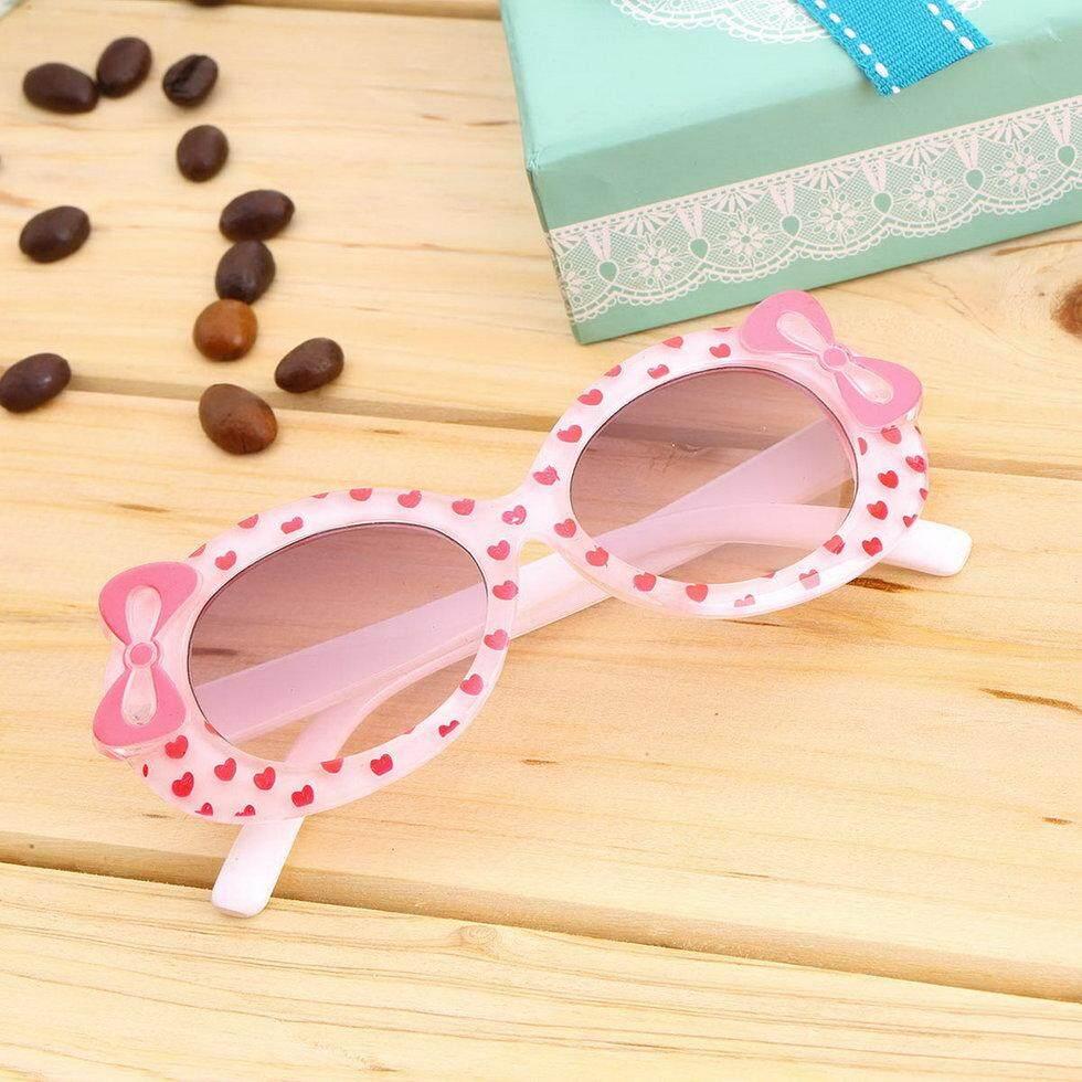 Hadiah Modis Bayi Anak Matahari Kacamata Plastik Perempuan Busur Kacamata  Transparan Putih-Internasional 7a378b1b81