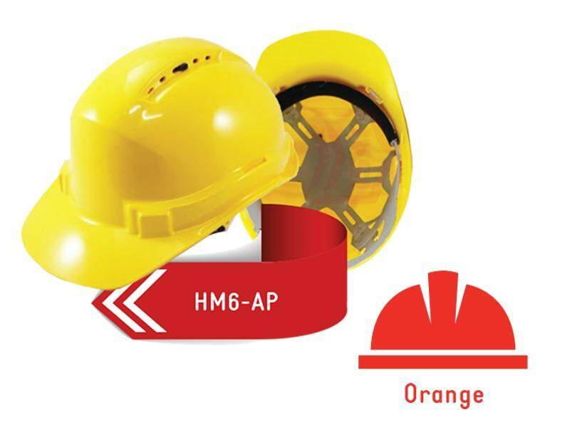 ISAF Industrial Safety Helmet c/w Pinlock, Sweatband & Chinstrap - Orange