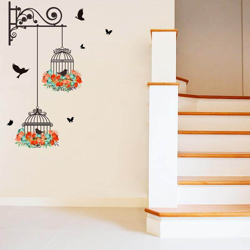 Tremendous Hanging Birdcage Wall Sticker Bedroom Decor Wall Decorations Living Room Wall Stickers For Kids Rooms Door Sticker Home Decoration Accessories Intl Home Interior And Landscaping Pimpapssignezvosmurscom