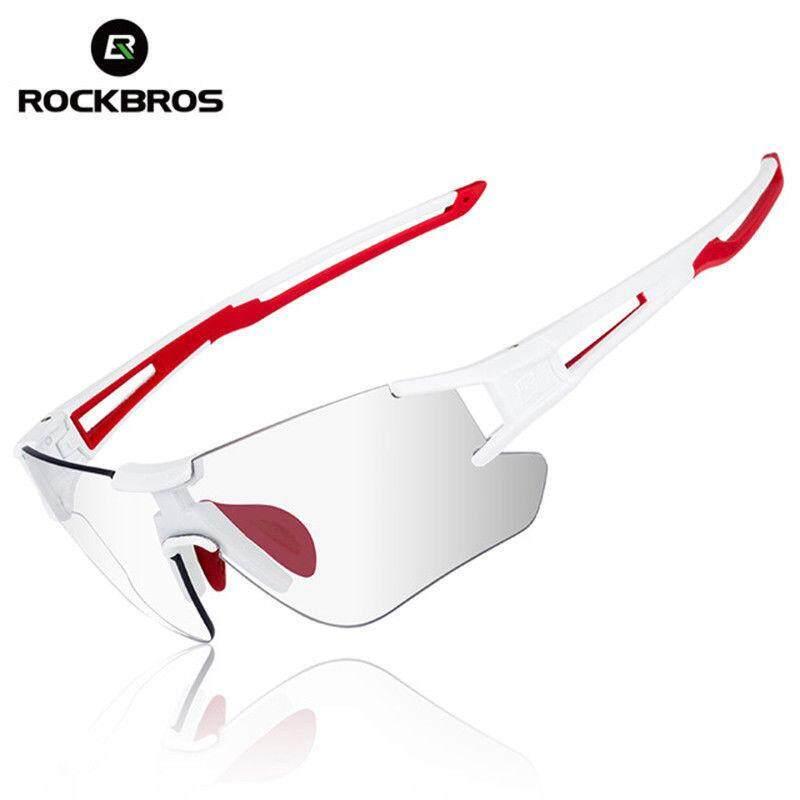 ROCKBROS Sepeda Kacamata Hitam Olahraga Photochromic UV400 Kacamata d7990e1206