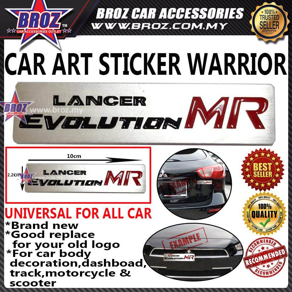 Lancer Evolution MR Car Art Sticker Warrior