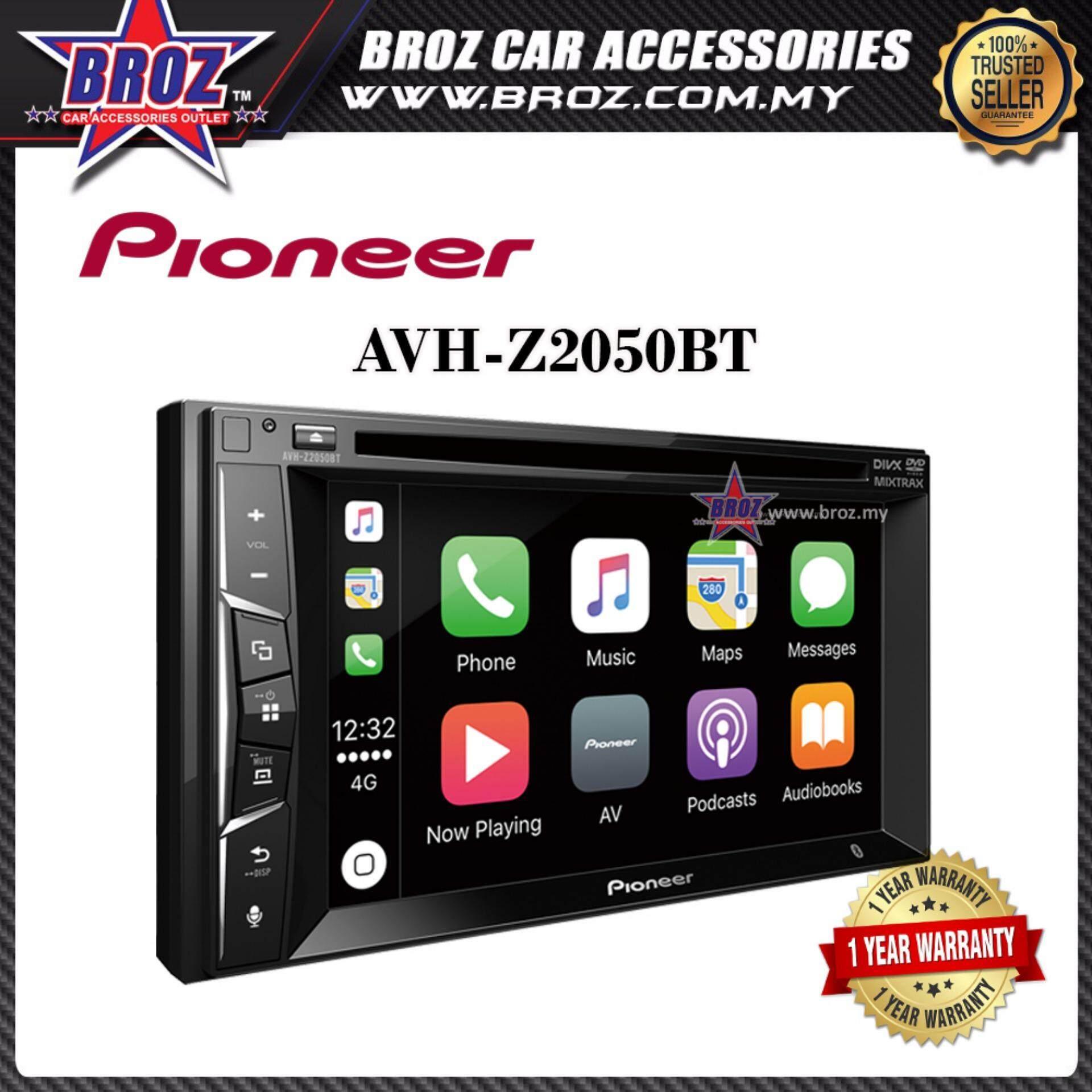 Pioneer Z-Series AVH-Z2050BT 6.2?2-Din Multinedia Player With Apple CarPlay Bluetootha