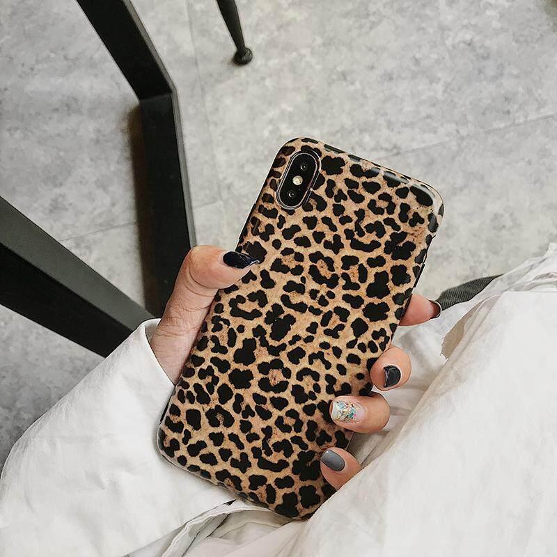 Macan Tutul Cetak Ponsel Pelindung untuk iPhone X Max X XR X Matte Lembut TPU Case