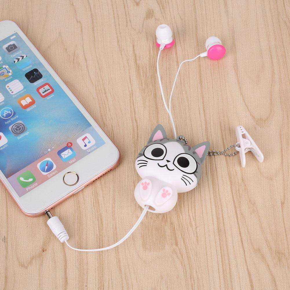Bestprice-Kartun Lucu Kucing Panda Kabel Teleskopik MP3 Earphone Headphone Penyumbat Telinga-Internasional