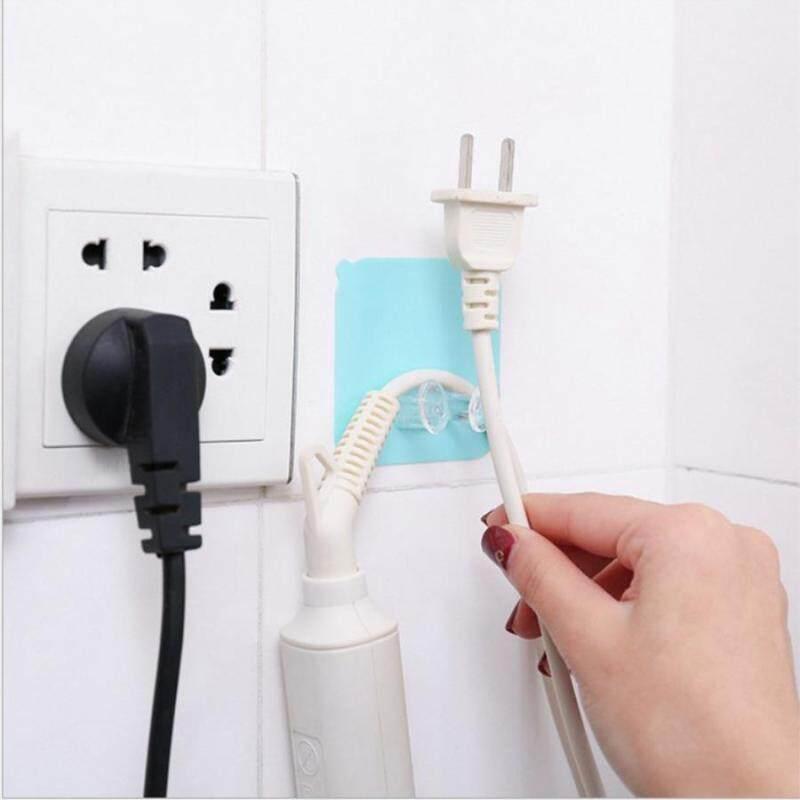 12pcs Power Plug Self Adhesive Hook Socket Power Cord Plug Hook