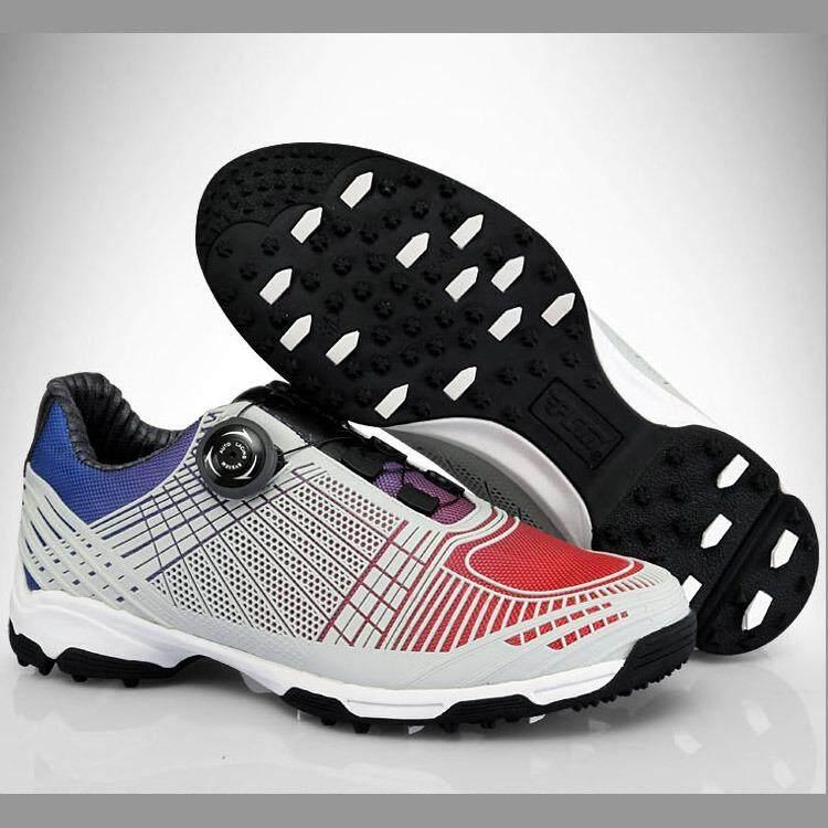 Ukuran 39-45 Sepatu Golf Pria Anti-Air Sepatu Olahraga Tombol Gesper Sepatu  Lapisan 3f06e3378a