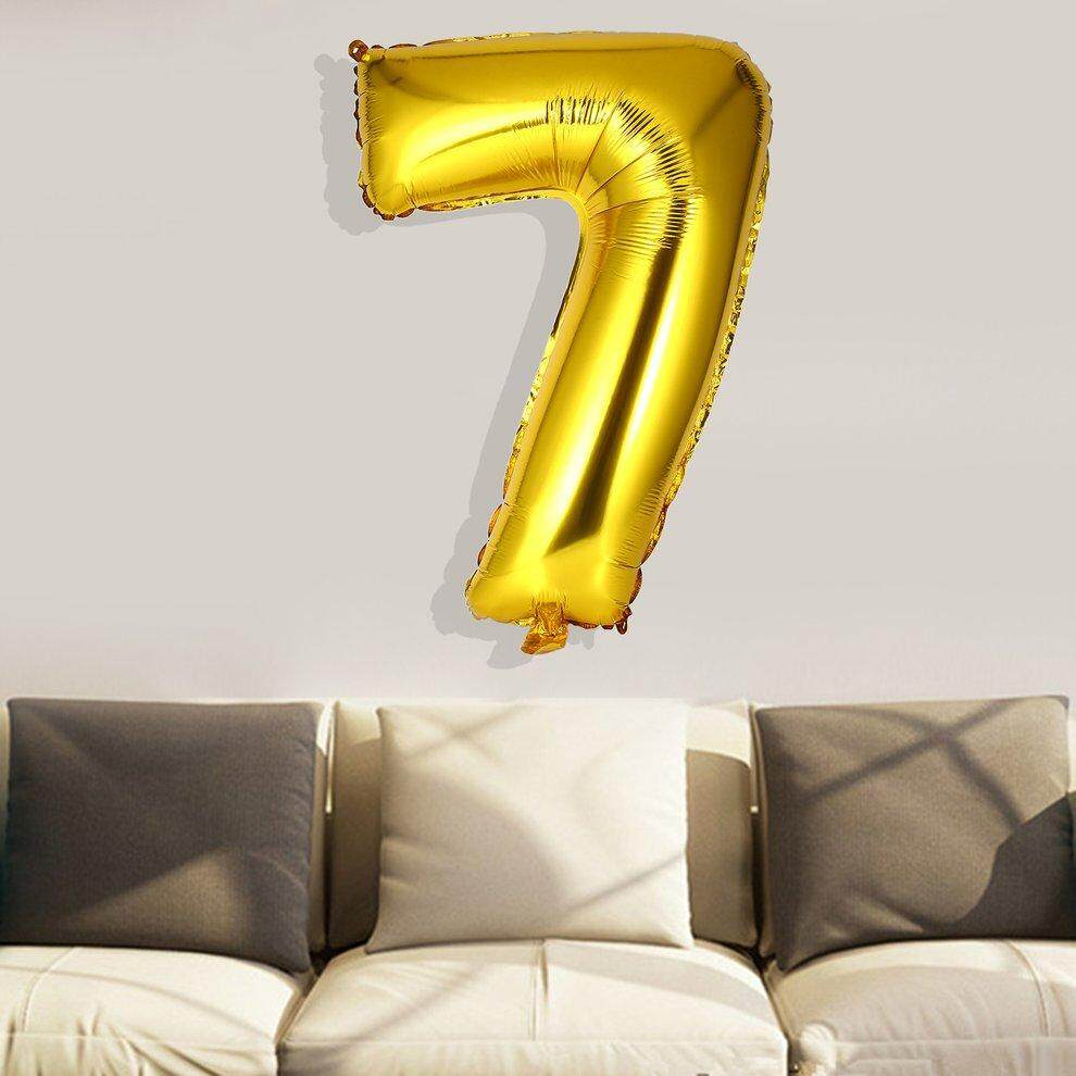 30 Inch Foil Mylar Balloons for Wall Decoration Number Digit Foil Balloons - intl
