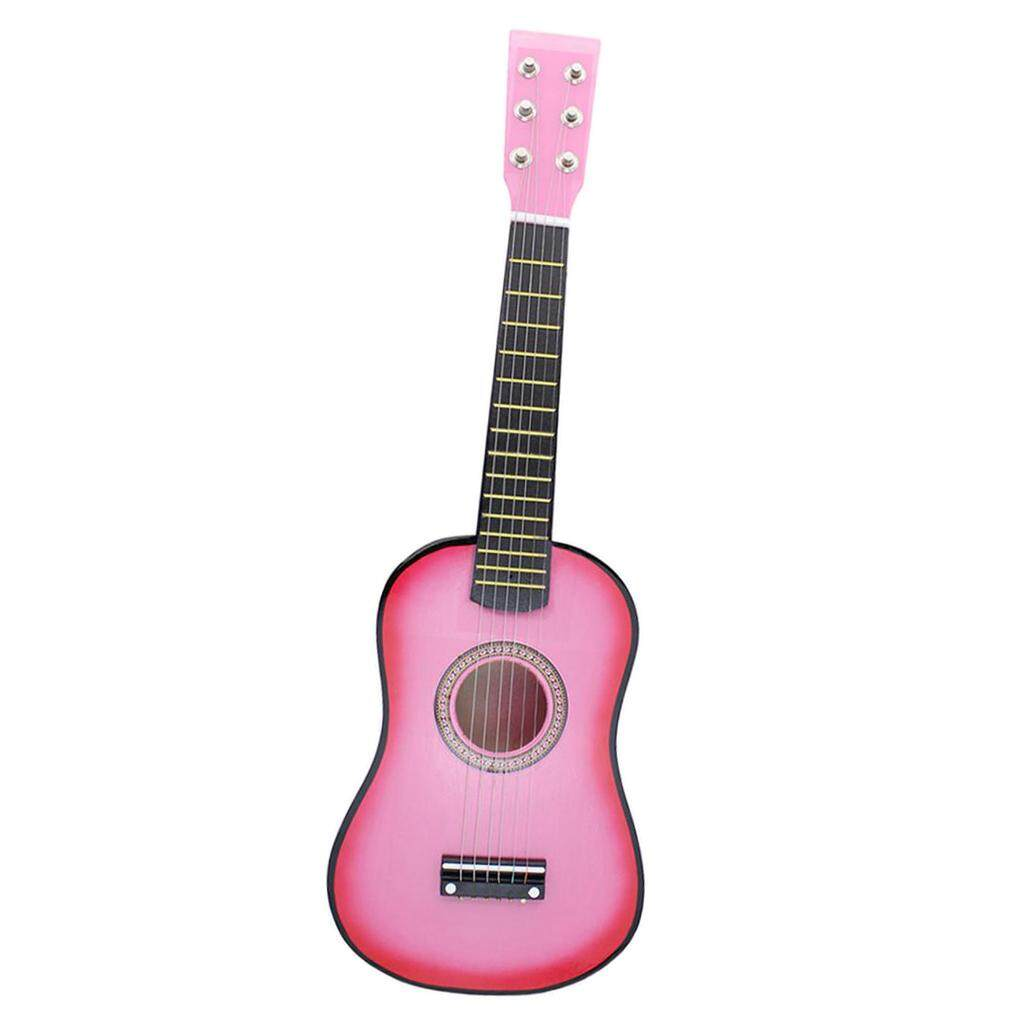 Miracle Shining Mini 23 inch Wooden 6 Strings Acoustic Guitar Musical Instrument Gift Pink - intl