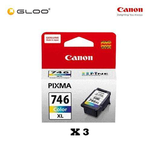 [Set of 3] Canon CL-746XL Ink Cartridge - TriColor