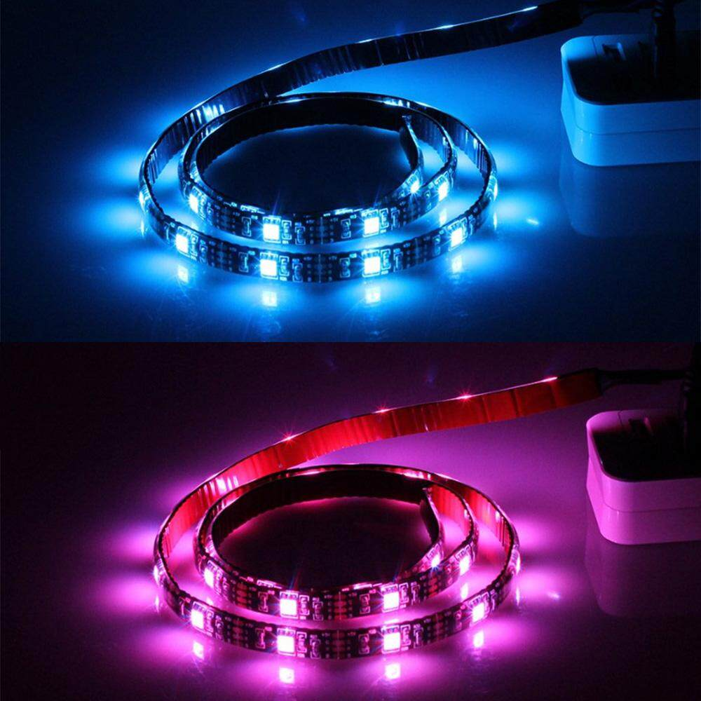 Waterproof USB LED Strip Multi Color Light RGB 5050 1 Metre 17keys remote controller 5V