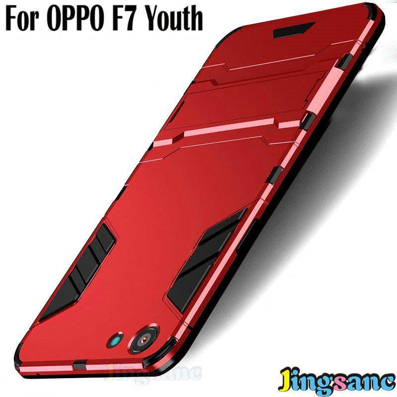 For OPPO F7 Youth Phone Case Hybrid 2 in1 Case Hard Plastic + Soft Silicone TPU Rugged Cover Casing Matte PC Hardcase phonecover for oppo f7youth
