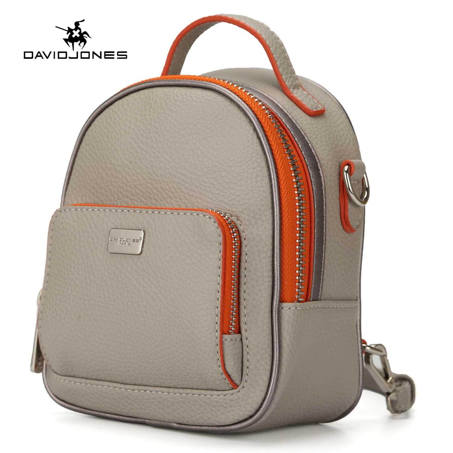 a1f4a9a3dbc DAVIDJONES women backpack pu leather female shoulder bag small lady  patchwork back bag girl casual book