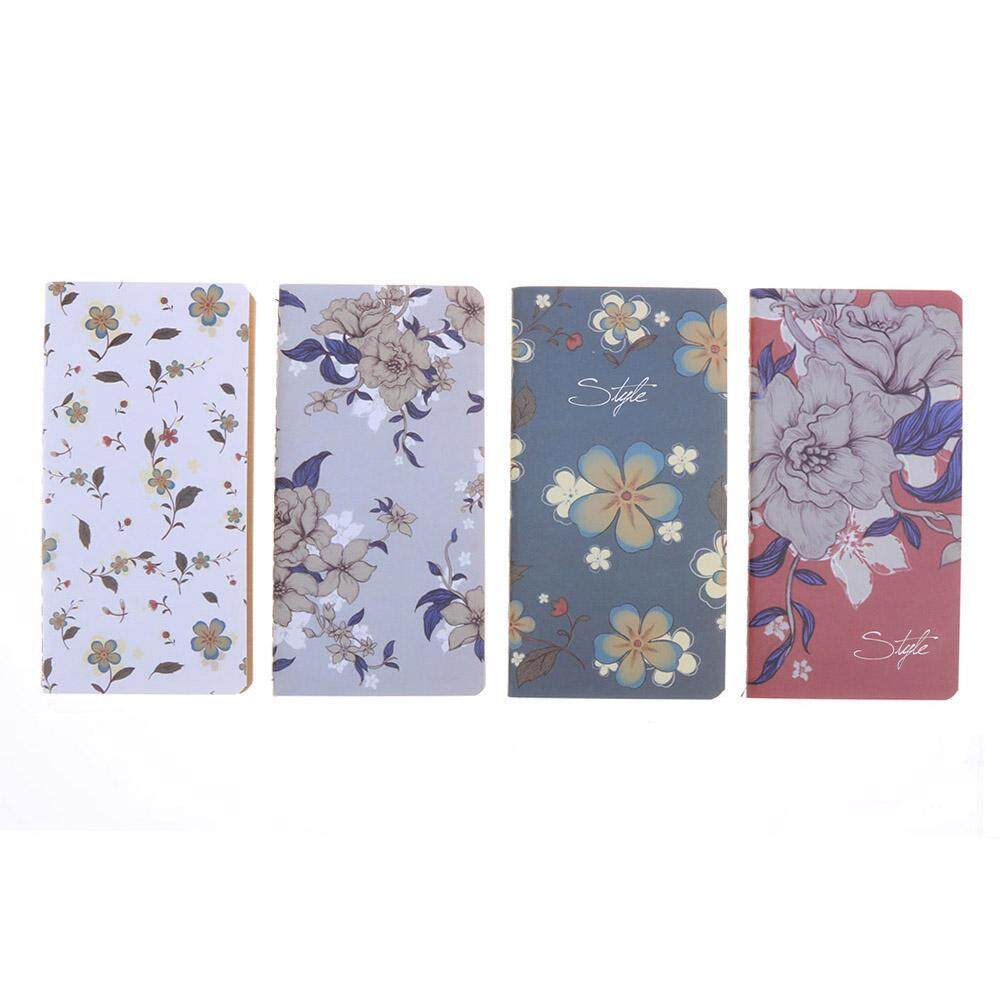 Mua 4pcs Retro Flower Notebooks Notepad Student Stationery Home Office Supplies(Multicolor)-4 - intl