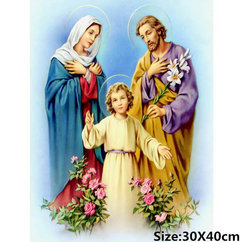 5d Jesus family religious icons mosaic pattern diy diamond painting cross stitch home decor sticker diamond embroidery frameless