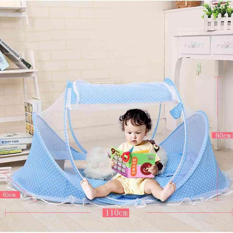 ZLOYI Folding Mosquito Net Portable Baby infant Newborn Anti- Mosquito Net Mosquito Bed Coupling Pillow Inner Cushion blue - intl