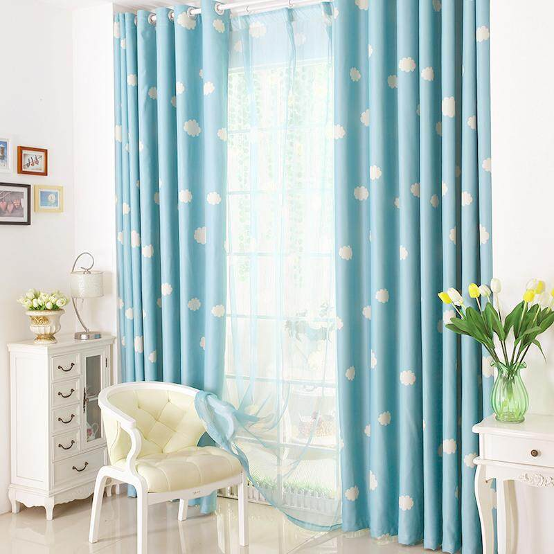 [OrangeHome] 200*220 CM (1 pc) Blackout Curtain Drape Ring/Eyelet/Punch Window Room Bedroom Balcony Blue A01-YD - intl