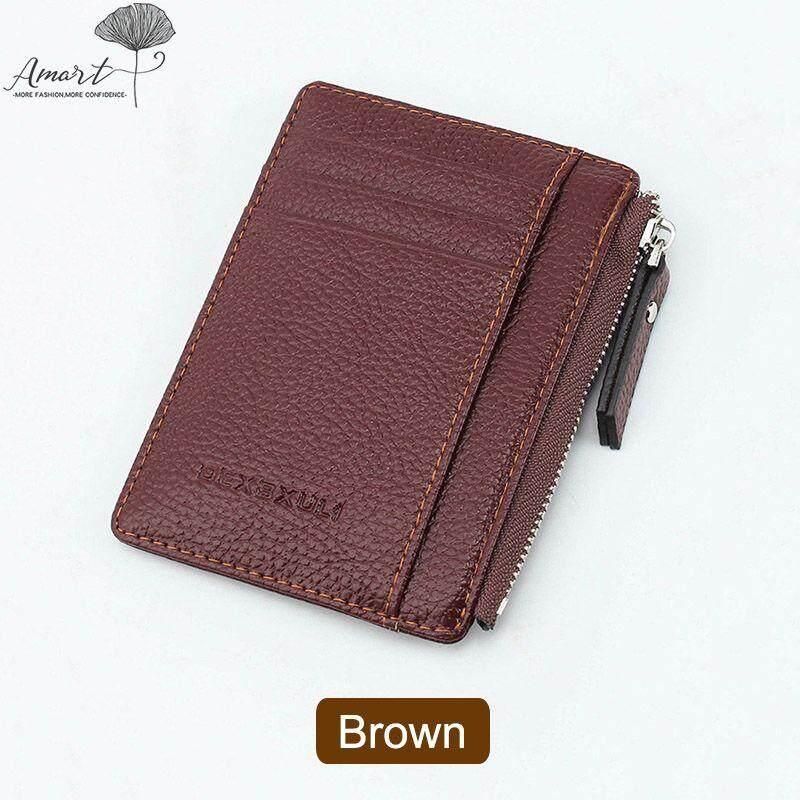 Amart Fashion Women Men Wallets Purse Zipper PU Small Mini Soft Thin For Money Card Coin