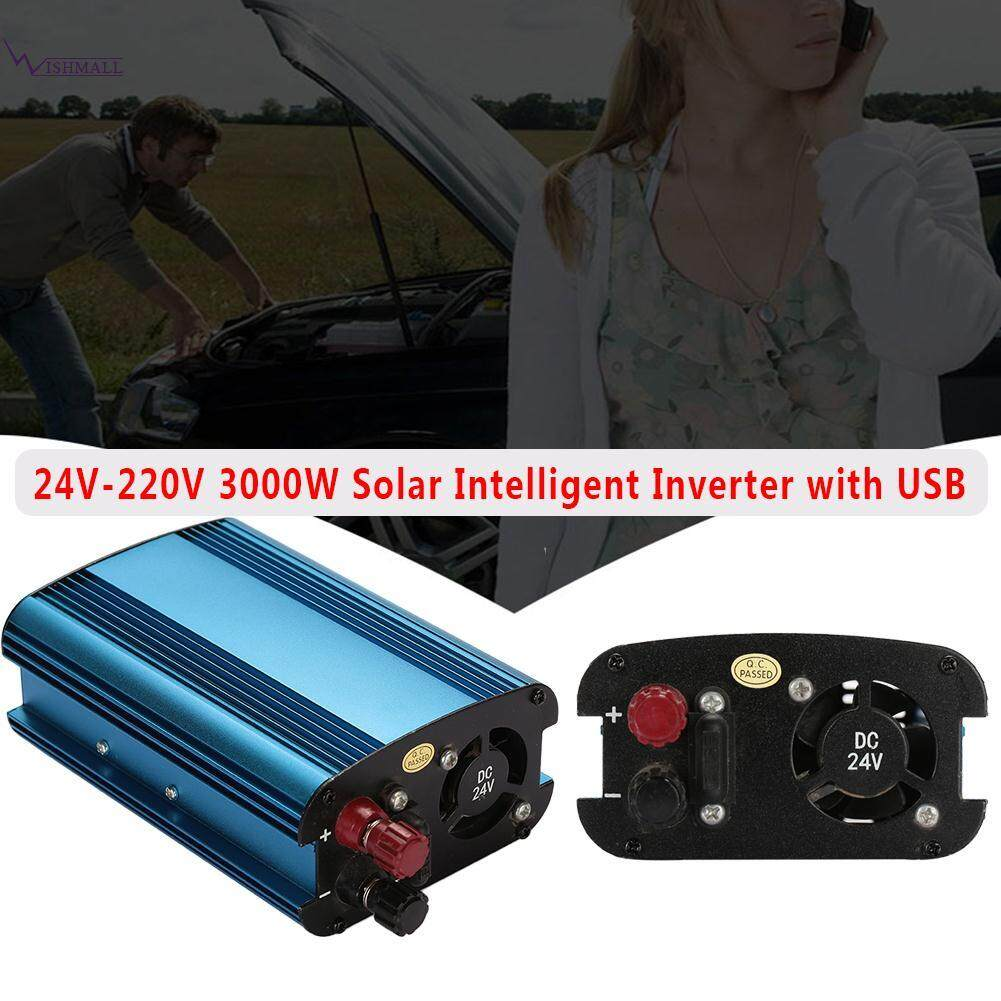 Wishmall Solar Inverter Car Inverter Power Inverter 3000W DC 24V To AC 220V