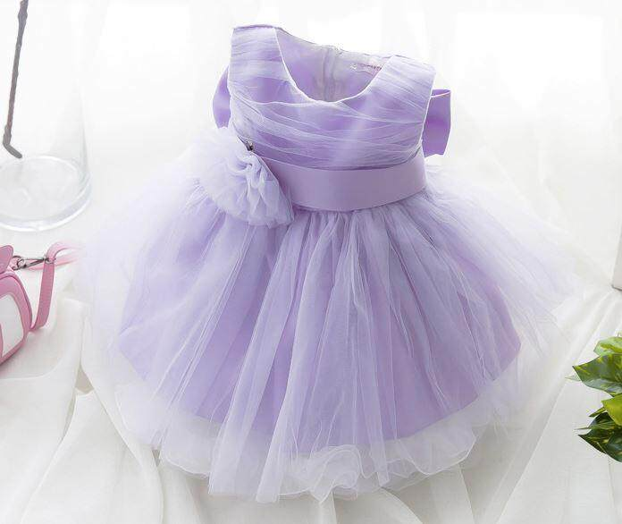 Kids Girls Princess Tutu Dress (Purple)