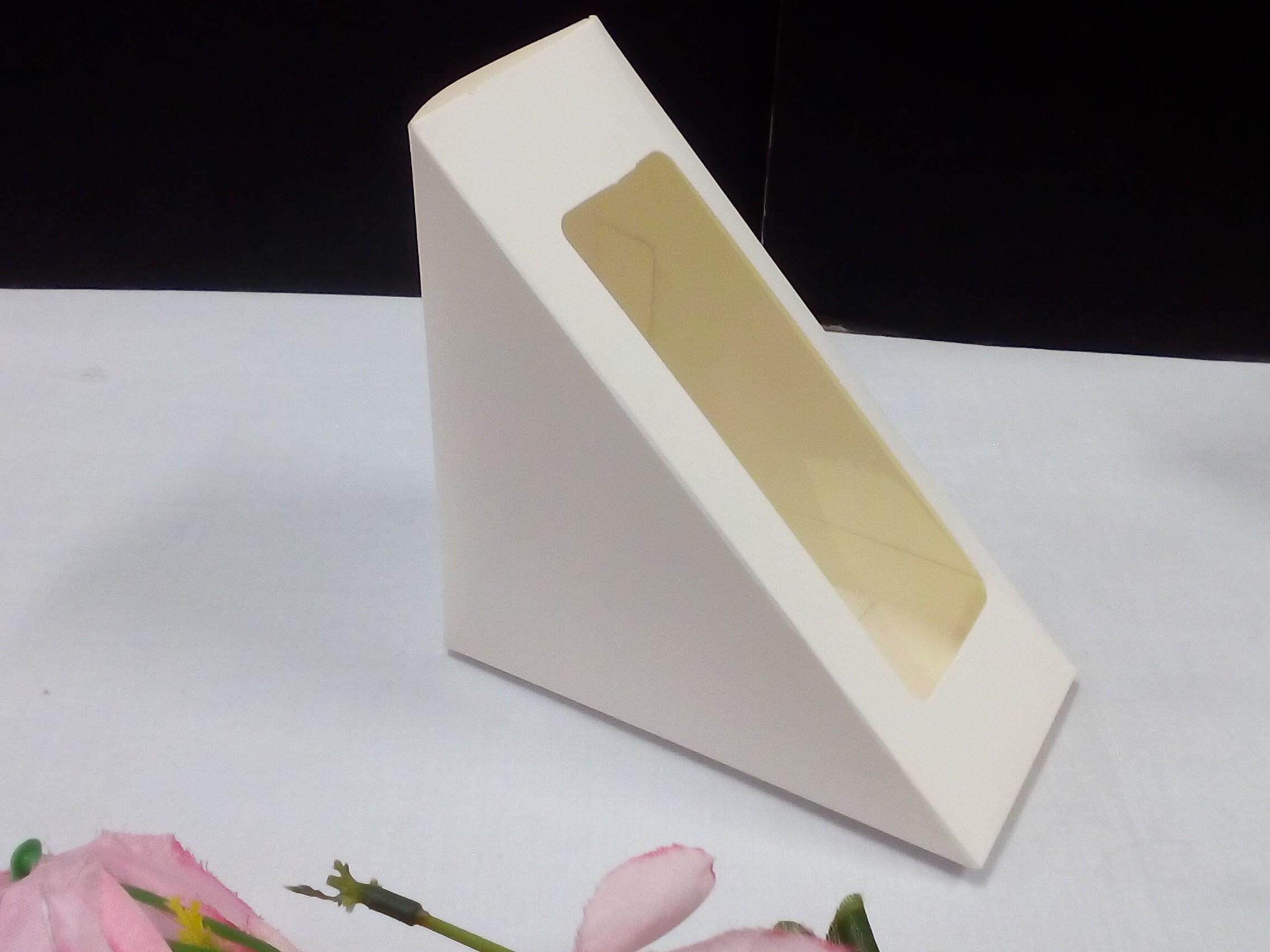 50 pieces Sandwich Paper Box For Two Pieces Breads. Ship within 6 Hours ! (Plain White)