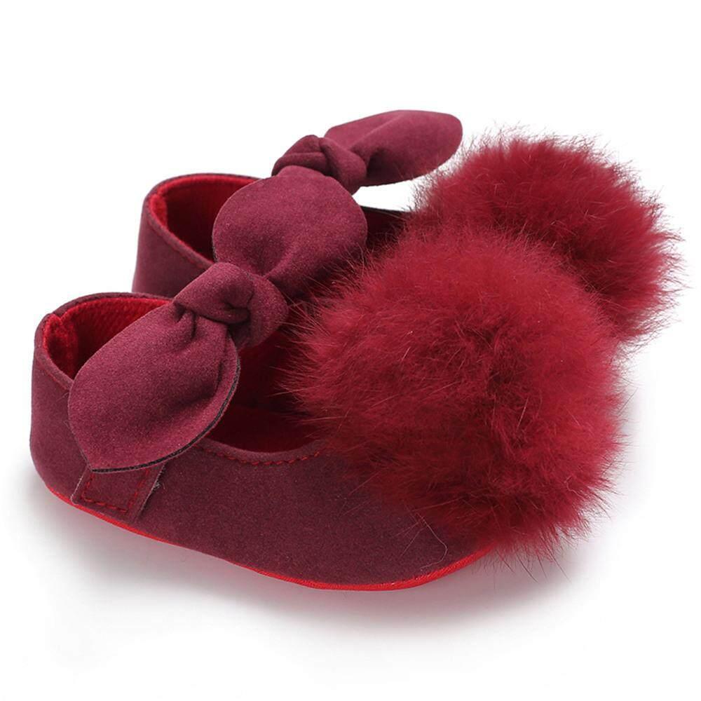 Sepatu Kasual Gaya Putri dengan Bola Bulu Lembut Lucu untuk Bayi dan Anak  Perempuan 1317138c94