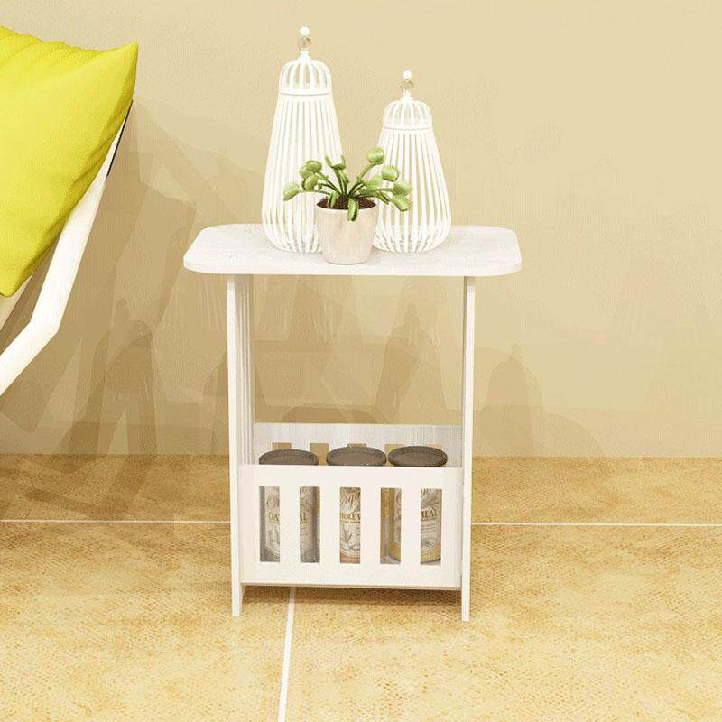 RuYiYu - 36 X 24 X 41 cm, Plastic-Wood White Bed End Table Nightstand Bathroom Cabinet Kids Furniture Table Bookcase