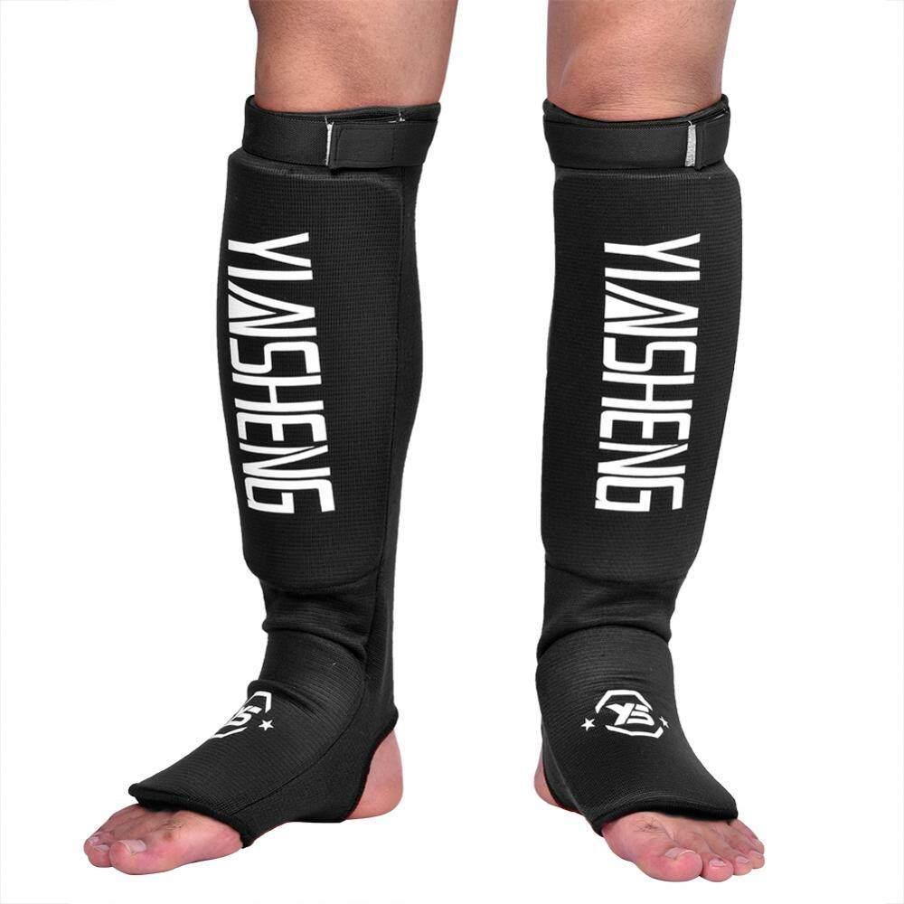 Hình ảnh 1 Pair Durable Breathable Leg Foot Guard Protector for MMA Boxing Karate Taekwondo(Black L) - intl