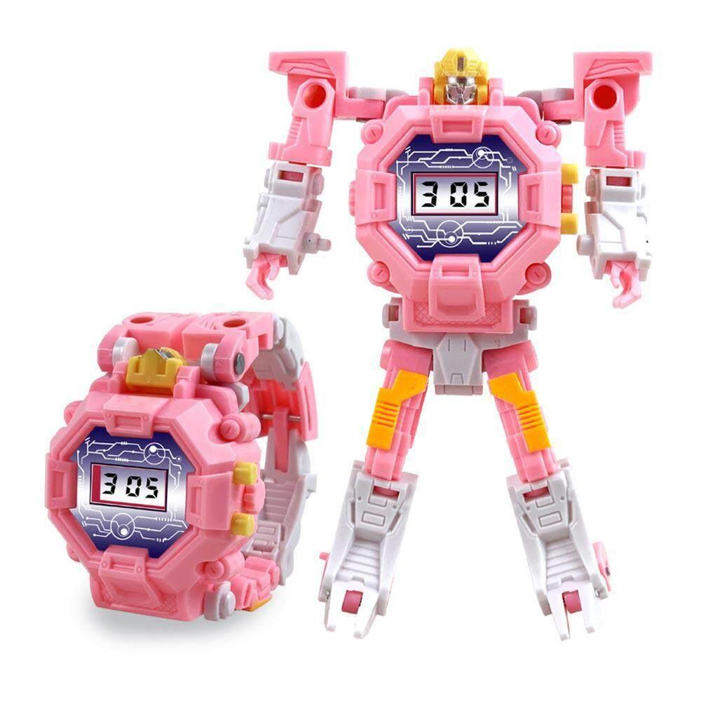 Buyinbulk 2 In 1 ของเล่นแปลงร่างนาฬิกาหุ่นยนต์, Foonee เด็กนาฬิกาอิเล็กทรอนิกส์ดิจิตอลหุ่นยนต์แปลงร่างของเล่นสำหรับ 3-12 ปีชายหญิง - สร้างสรรค์การศึกษาการเรียนรู้ของขวัญของเล่นคริสต์มาส By Buyinbulk.