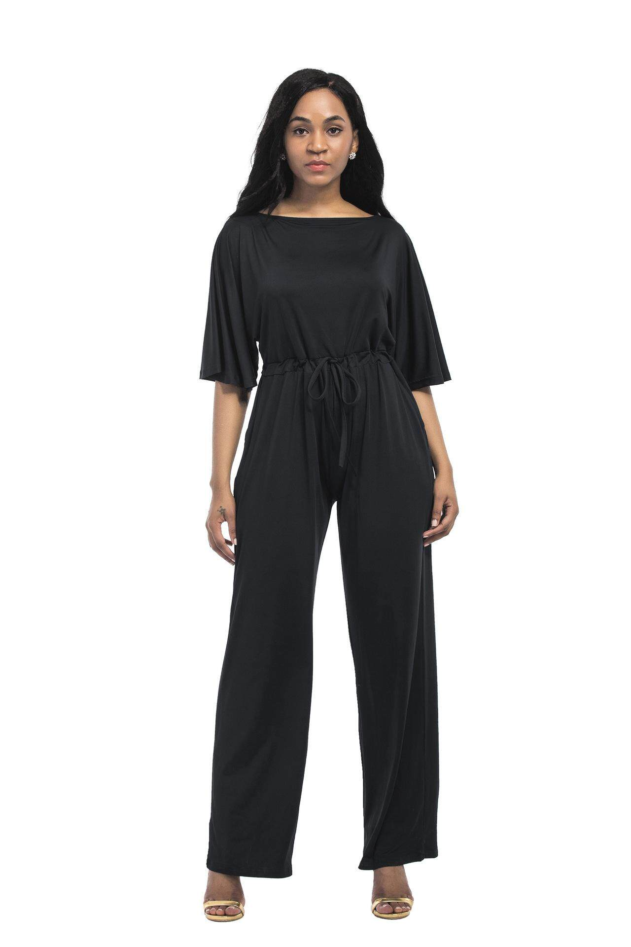 Womens Jumpsuits Playsuits Buy At Lgs Slim Fit Youth Boy Giant Leap Merah Xl Large Size Casual Loose Solid Color Wide Leg Pants Jumpsuit Black