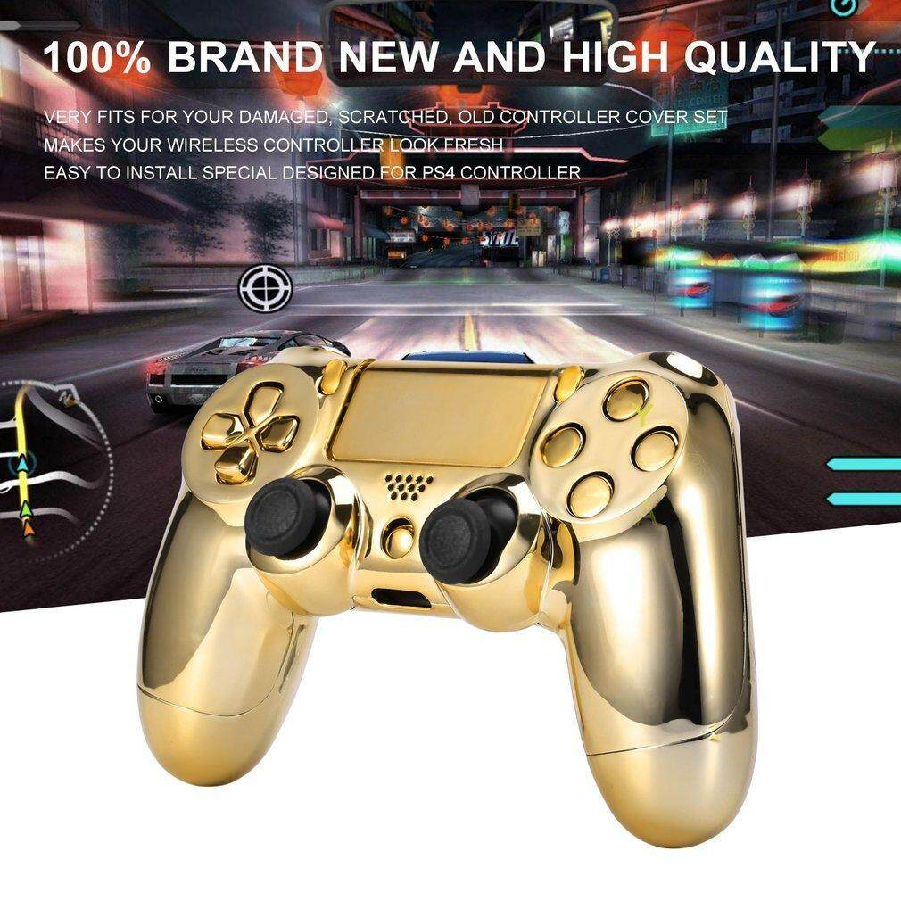 Hình ảnh Gold Chrome Replacement Hydro Dipped Shell Mod Kit for PS4 Controller