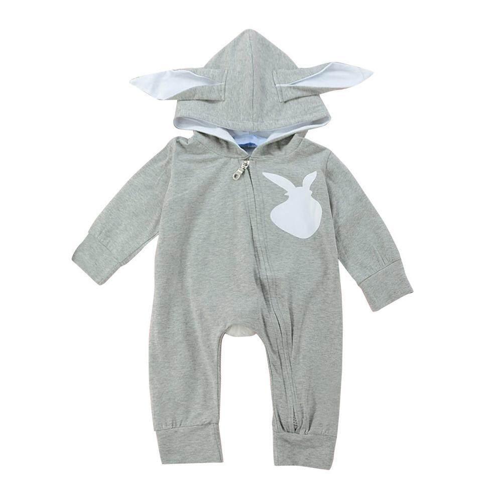 db3458df705 NiceToEmpty Cute Newborn Baby Boys Girl Boy 3D Ear Rabbit Rompers Cotton  Zipple Bebe Boys Girls