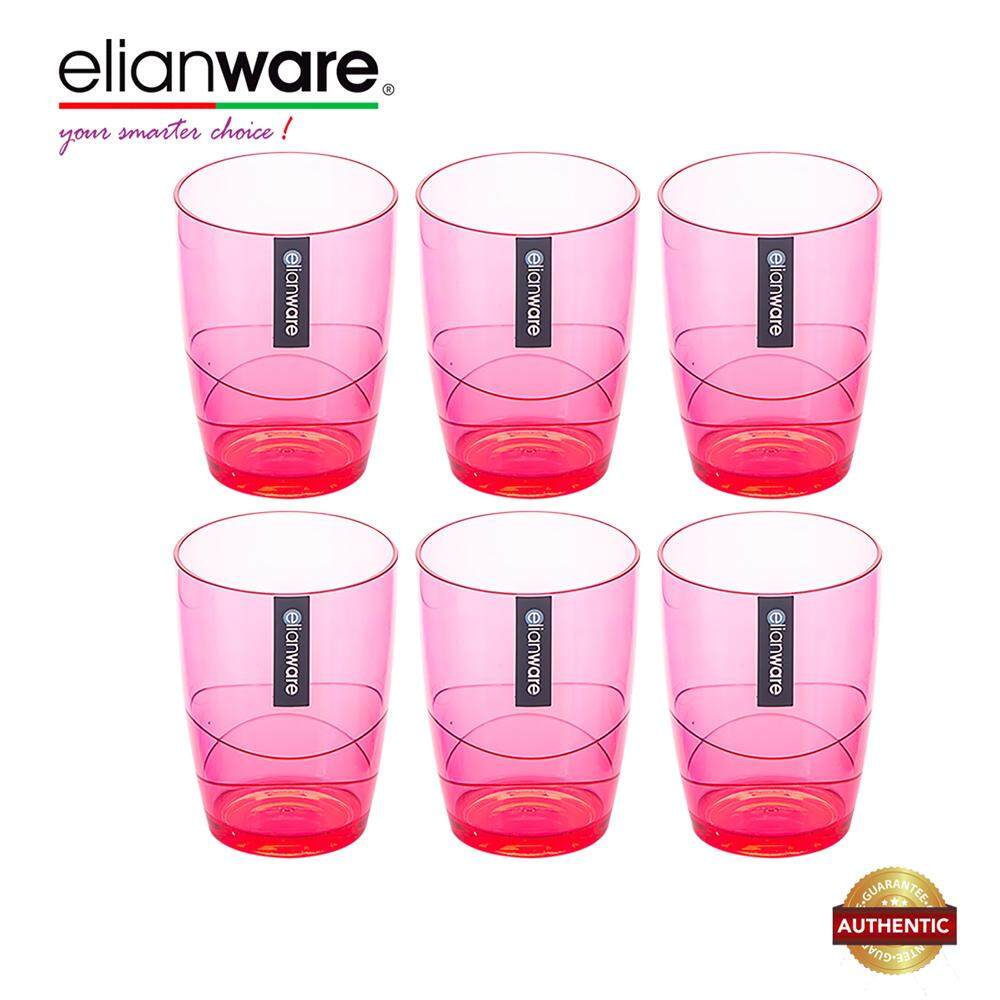Elianware 330ml x 6 Pcs Colourful Modern Drinking Cup Set
