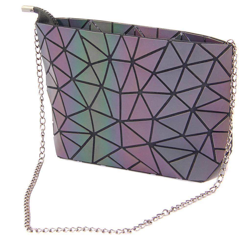 กระเป๋าถือ นักเรียน ผู้หญิง วัยรุ่น ราชบุรี กระเป๋าสะพายข้างสำหรับผู้หญิงกระเป๋าสตางค์เรขาคณิตเรขาคณิตกระเป๋าสตางค์สะท้อนแสง Luminous โฮโลแกรมสายรุ้งรมกระเป๋า